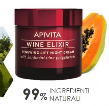 APIVITA New Wine Elixir Crema Notte Rigenerante Levigante