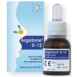Argotone 0-12 Fluidificante Decongestionante Soluzione Nasale