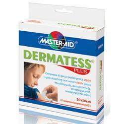 Dermatess Plus Garza Sterile Tessuto Non Tessuto 10x10cm