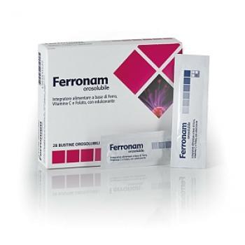 Ferronam Integratore Ferro Acido Folico Bustine Orosolubili