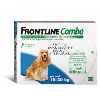 Frontline Combo Spot On Cani 3 Pipette 10-20Kg