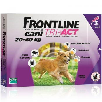 Frontline Tri Act Spot On Cani 3 Pipette 20-40Kg