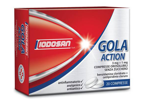 Iodosan Gola Action 3mg+1mg Compresse orosolubili