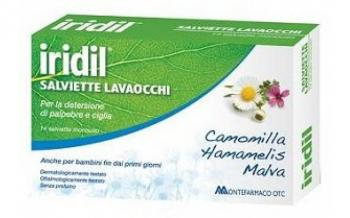 Iridil Lavaocchi Camomilla e Malva Salviettine Oculari Monouso