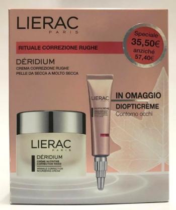 LIERAC Cofanetto Déridium Crema Nutriente Anti-age + Diopticrème