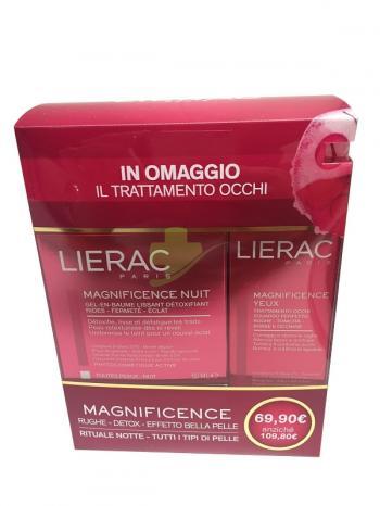 LIERAC Cofanetto Magnificente Notte Balsamo-Gel + Trattamento Oc
