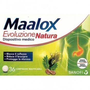 Maalox Evoluzione Natura Reflusso e Burciore Compresse