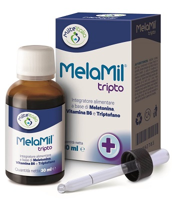 MelaMil Tripto Gocce Integratore di Melatonina, B6 e Triptofano
