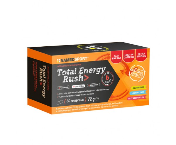 NAMED SPORT Total Energy Rush Integratore Pro Energetico Compres