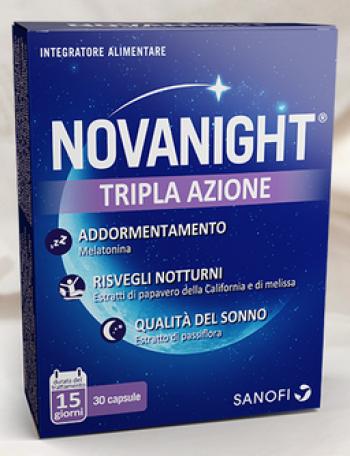 Novanight Tripla Azione Integratore Riposo Notturno Capsule