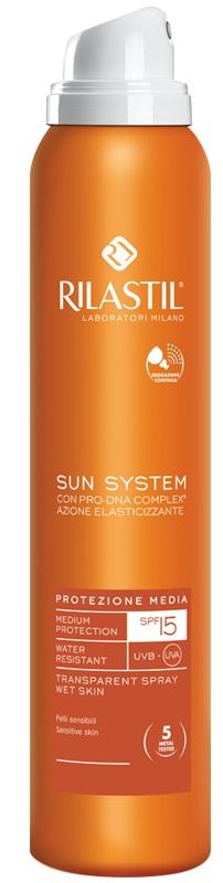 Rilastil Sun System Protezione Solare 15 Spray Trasparente