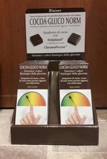Stainer Cocoa-Gluco Norm Tavoletta Cioccolato Controllo Glicemia