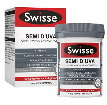 SWISSE Semi d'Uva Integratore Collagene Vitamina C Compresse
