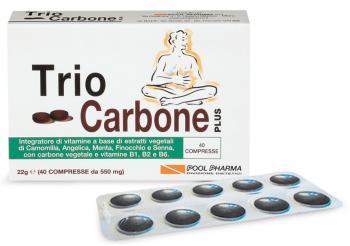 Triocarbone Plus Integratore Gonfiore Addominale Compresse