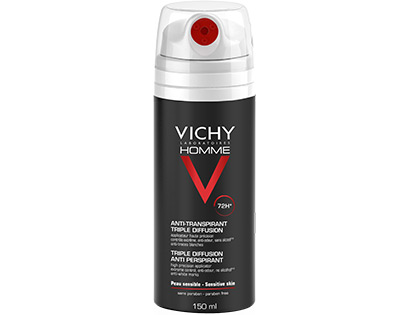 VICHY Homme deodorante spray tripla diffusione 72hDEOD SPRAY 72H