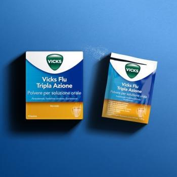 Vicks Flu Tripla Azione Sintomi Raffreddamento 10 Bustine
